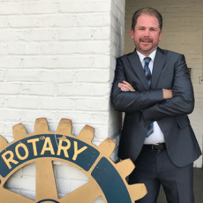 Zeb Welborn is the Chino Rotary Club President for 2017/2018