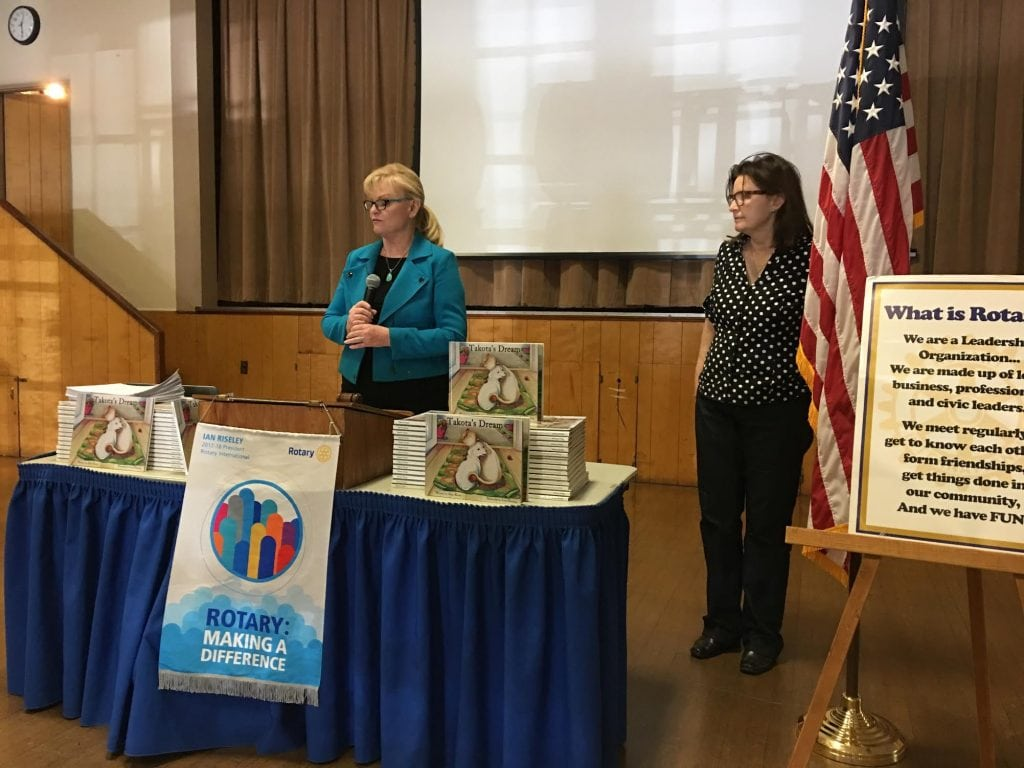 Anne Kruse Donates 600 Children's Books to Chino Rotary Club