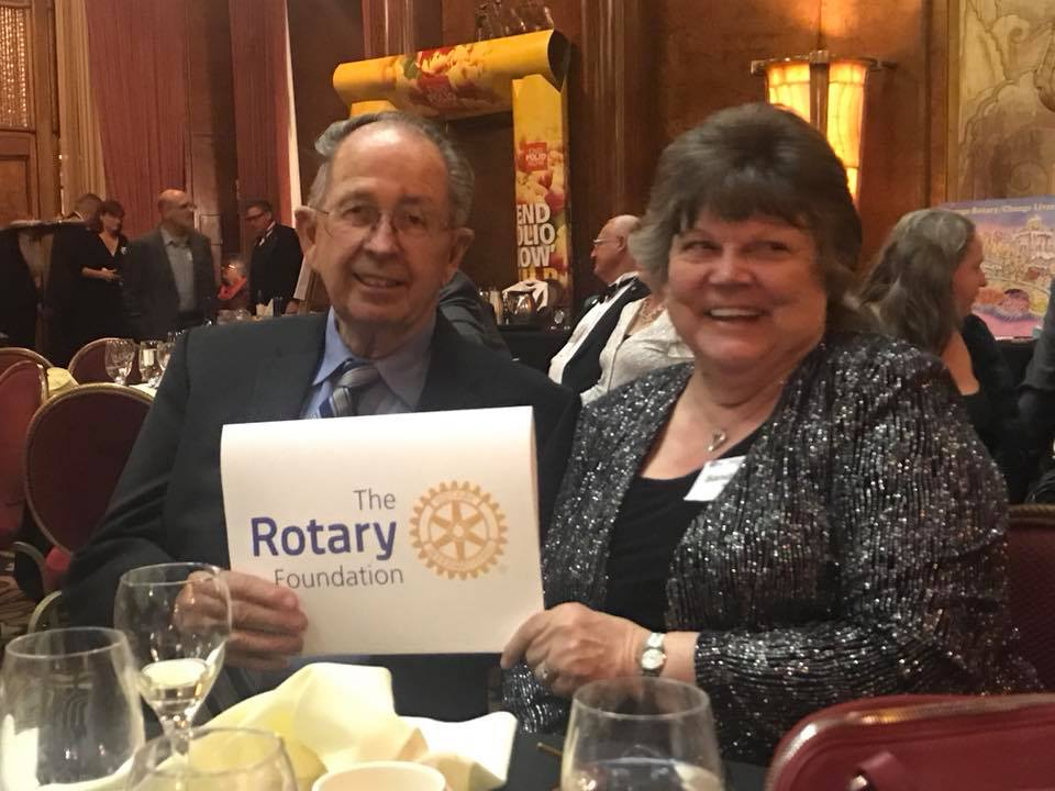 Dale Bright is Rotary Foundation Member of the Year for 2017 - 2018